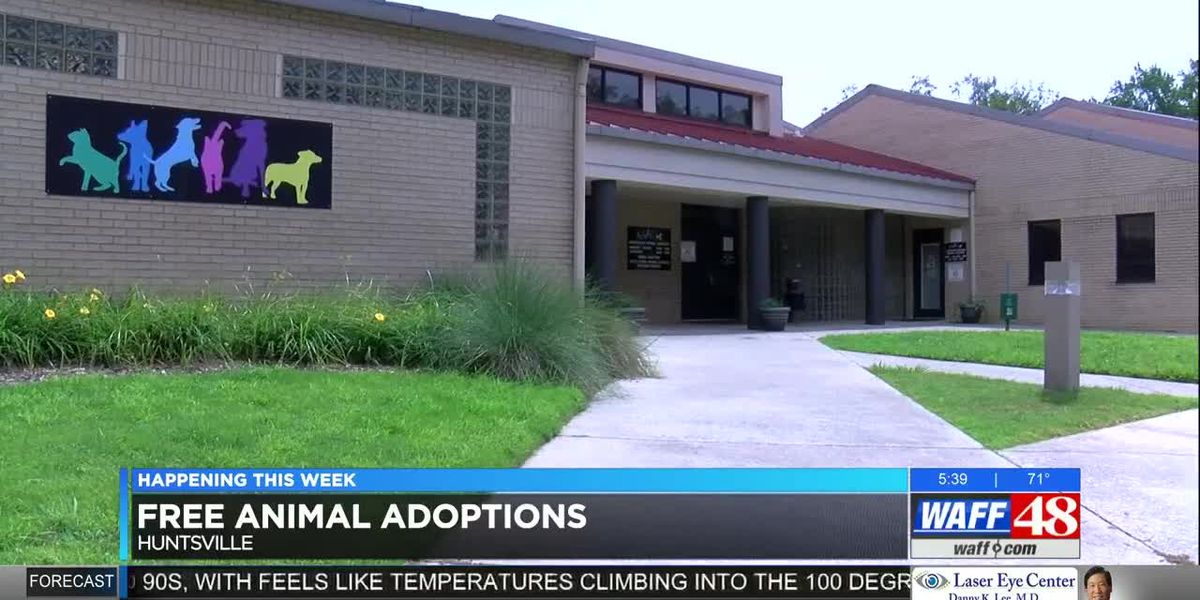Free pet adoptions at Huntsville Animal Services