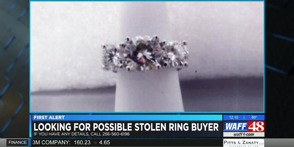 Authorities searching for stolen ring purchased at Huntsville pawn shop