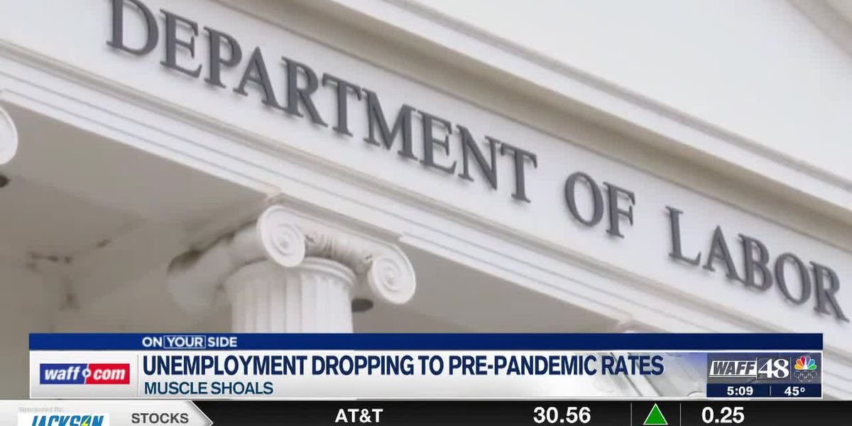 Unemployment drops to pre-pandemic levels in the Shoals