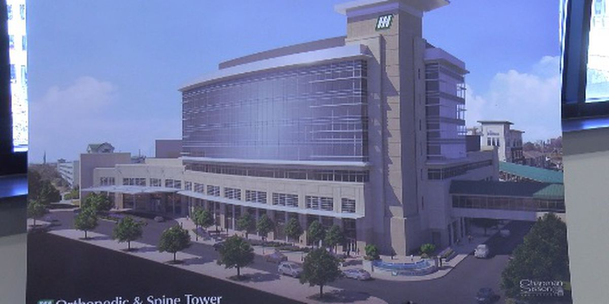 New Orthopedic & Spine Tower continues to take shape at Huntsville Hospital
