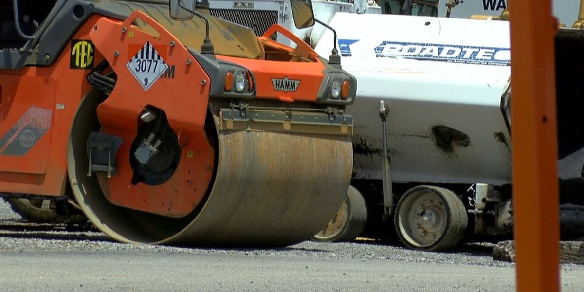 Nighttime repaving underway on Governors Drive