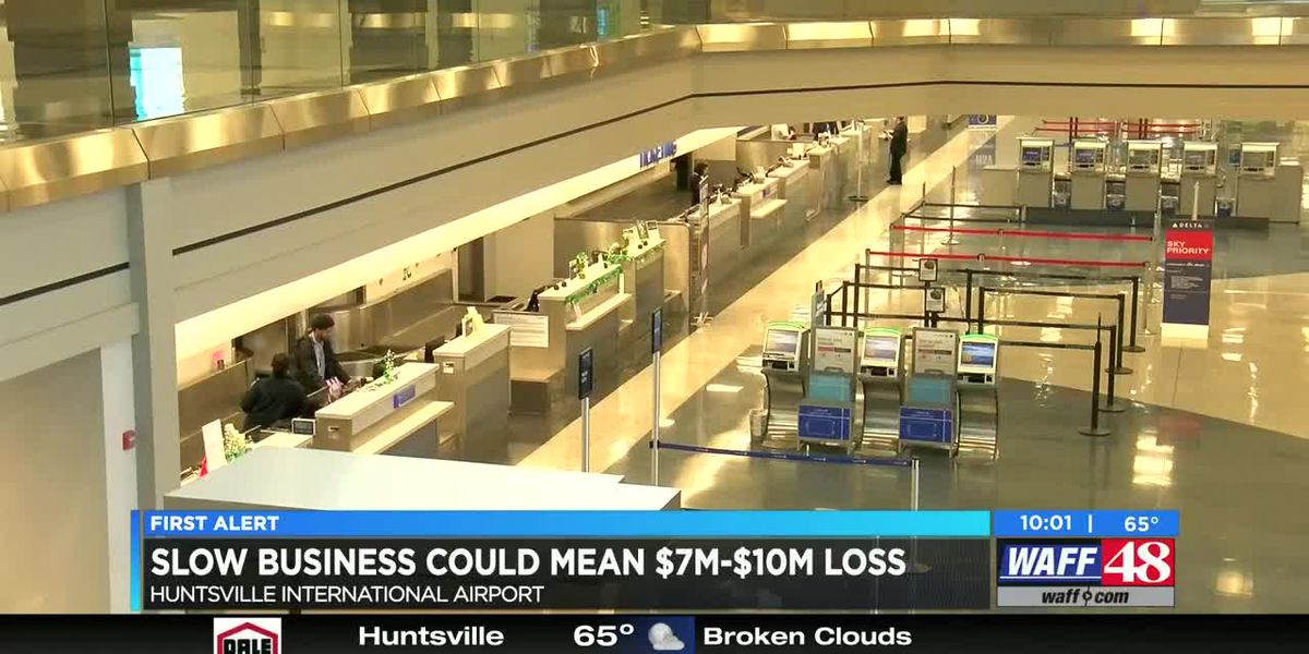 Huntsville International Airport expects large revenue loss due to pandemic