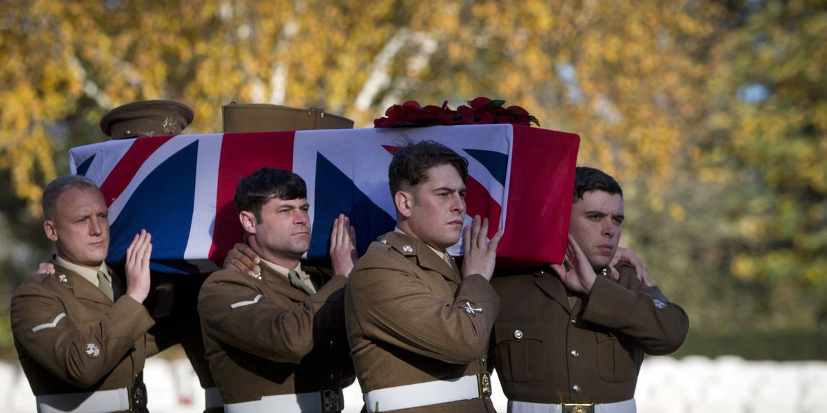 Unknown British soldier buried before WWI 100th anniversary