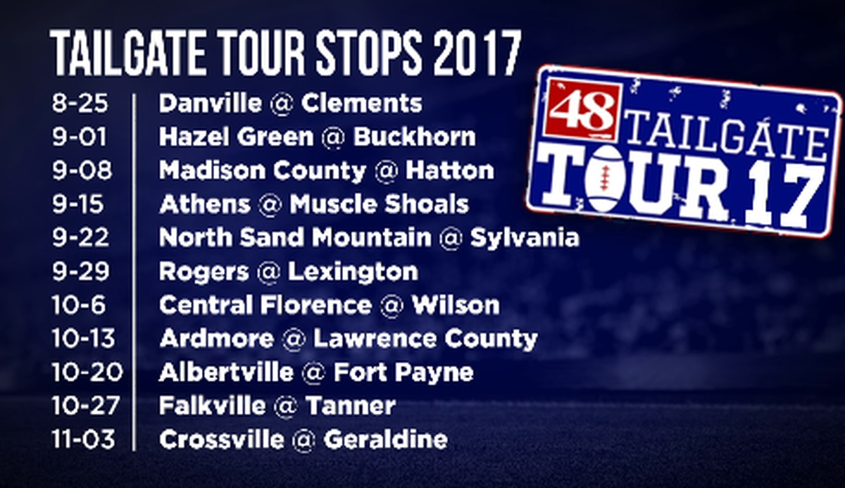 Schedule unveiled for Tailgate Tour Stops 2017