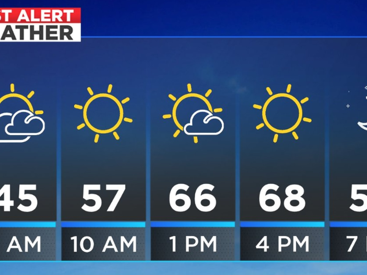 Chilly start with a mild, sunny afternoon; Rain moves in for Saturday