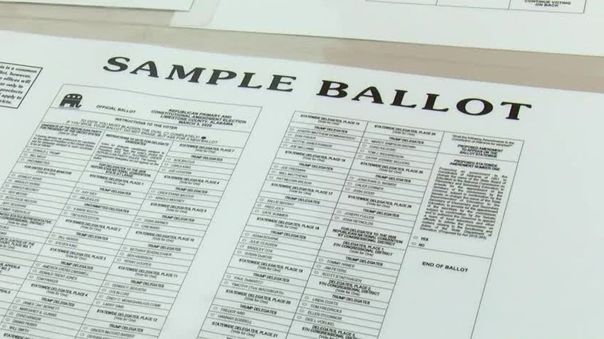 Alabama Secretary of State releases sample runoff election ballots