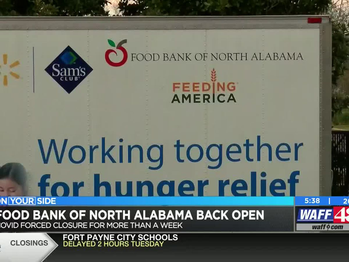 Food Bank of North Alabama reopens after COVID-19 forced closure