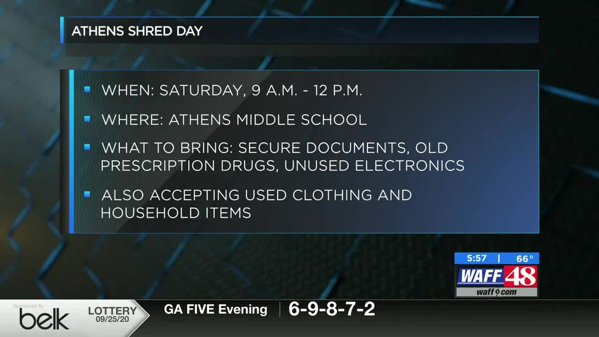 Athens Middle School to host 'shred day' to dispose unwanted items