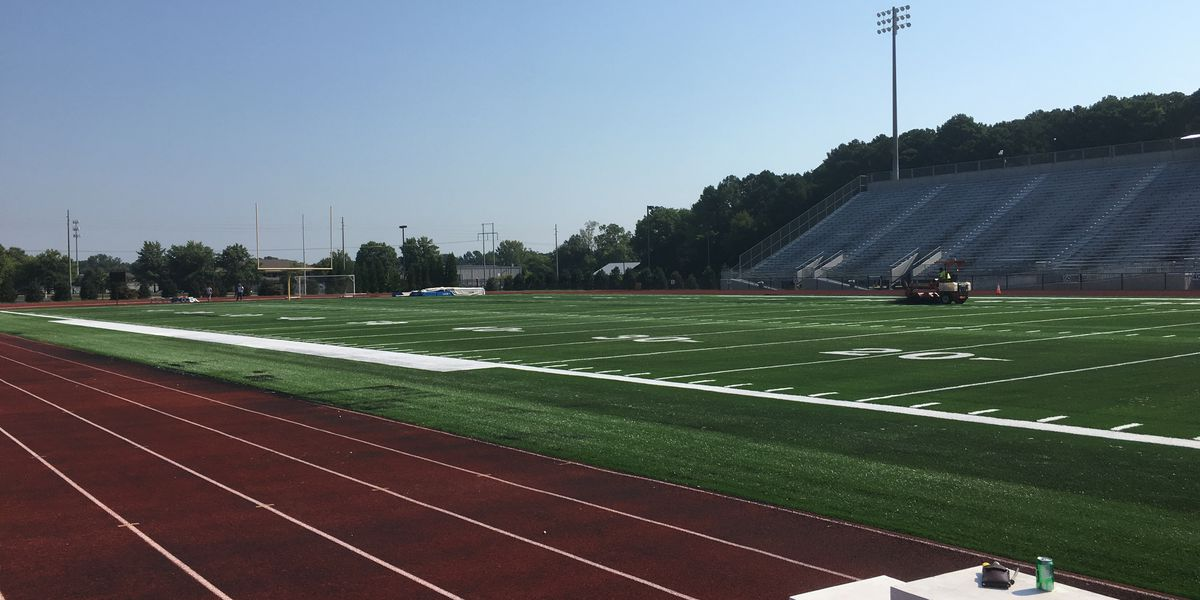 Finishing touches put on new field at Milton Frank Stadium
