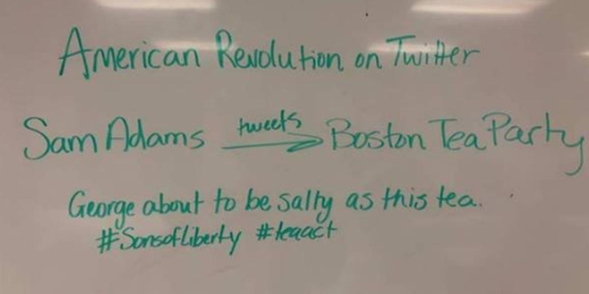 Lee High School History teacher's history twitter lesson goes viral