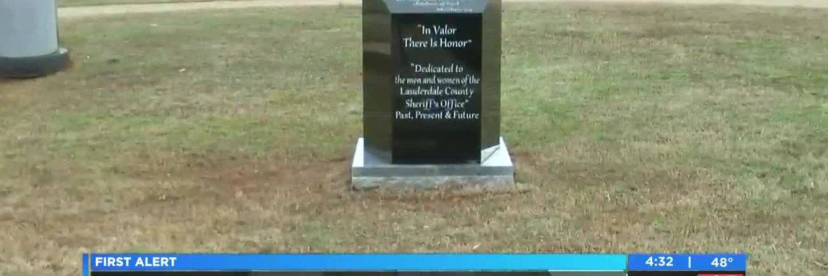 Lauderdale County Sheriff's Office unveils memorial to fallen officers
