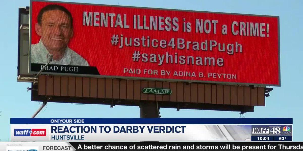 Brad Pugh's mother responds to Darby's guilty verdict