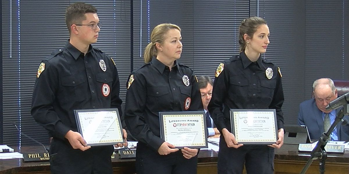 3 Monrovia firefighters recognized for saving man's life