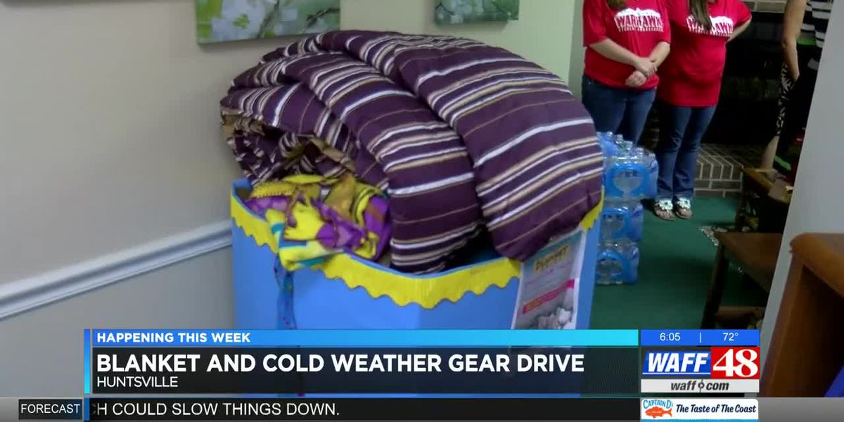 Blanket and cold gear drive for the homeless