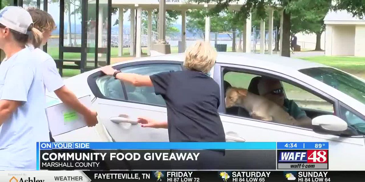 Marshall County Council on Aging hand out over 500 food boxes to families