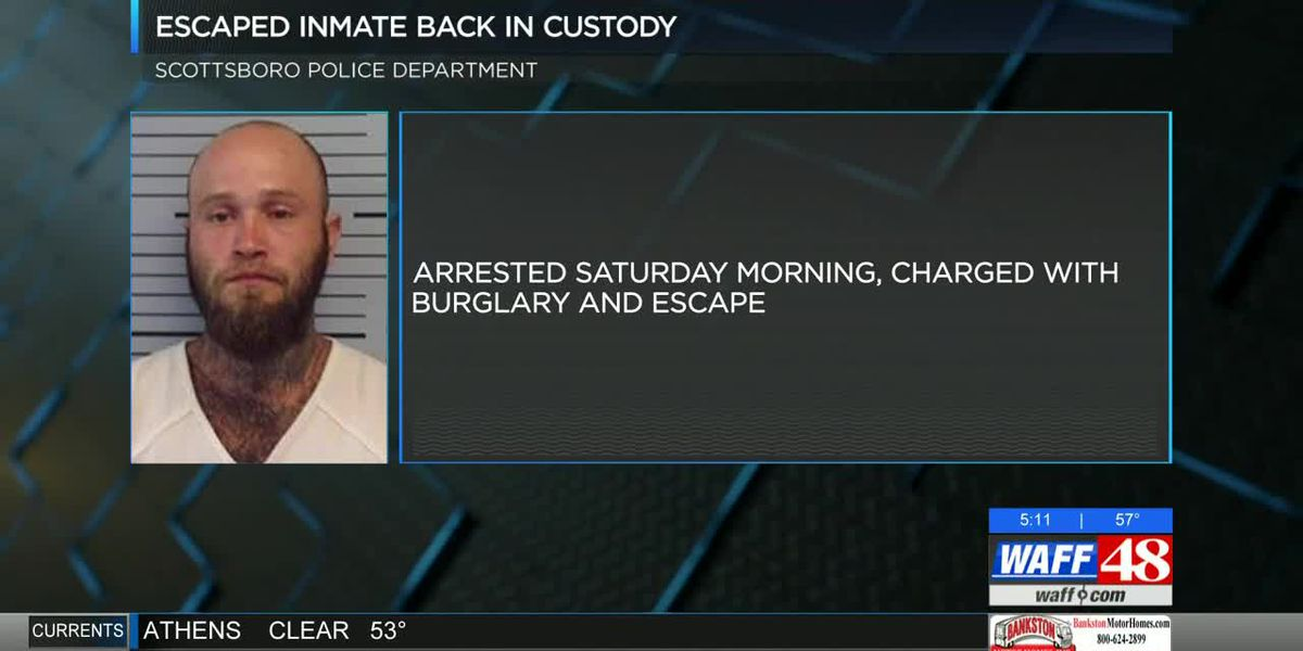 Escaped Jackson County inmate recaptured