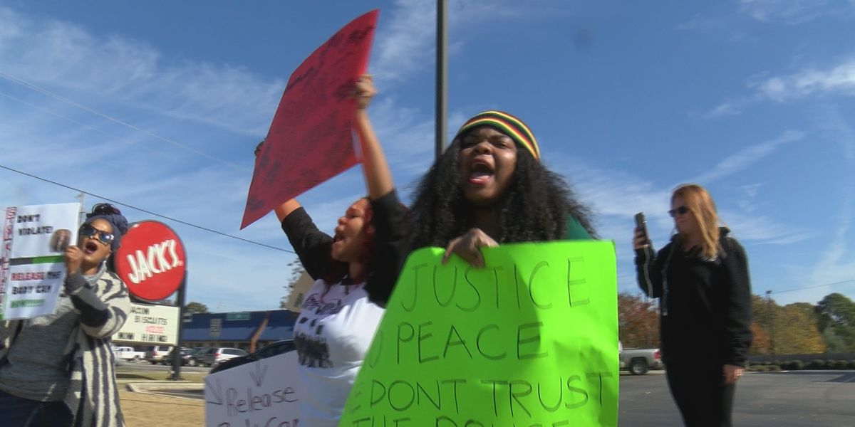 Protesters call for Dana Fletcher shooting body cam footage outside of Madison City Hall