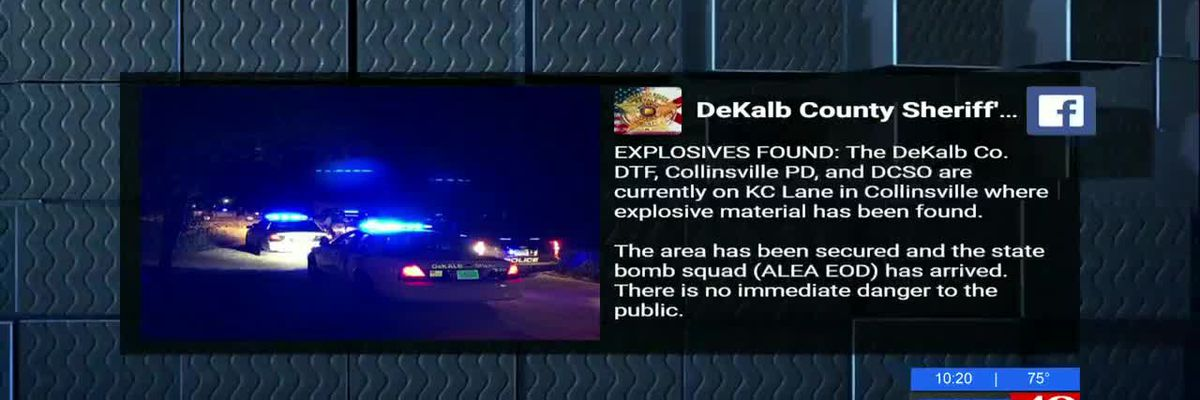 Explosives found at DeKalb County home