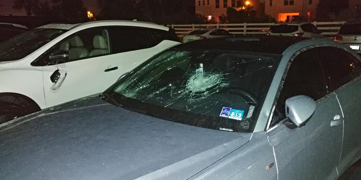 Huge hail damages cars in Orange Beach