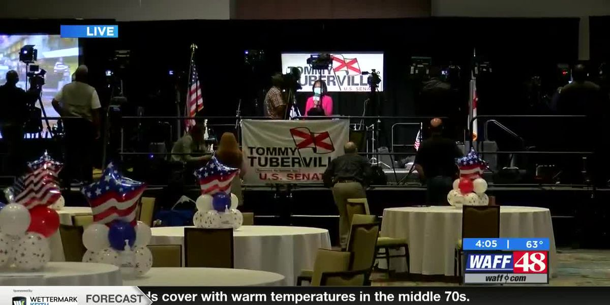 Tommy Tuberville's team preparing in Montgomery on Election Night