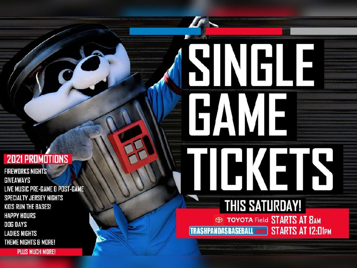 Trash Pandas single-game tickets on sale this weekend