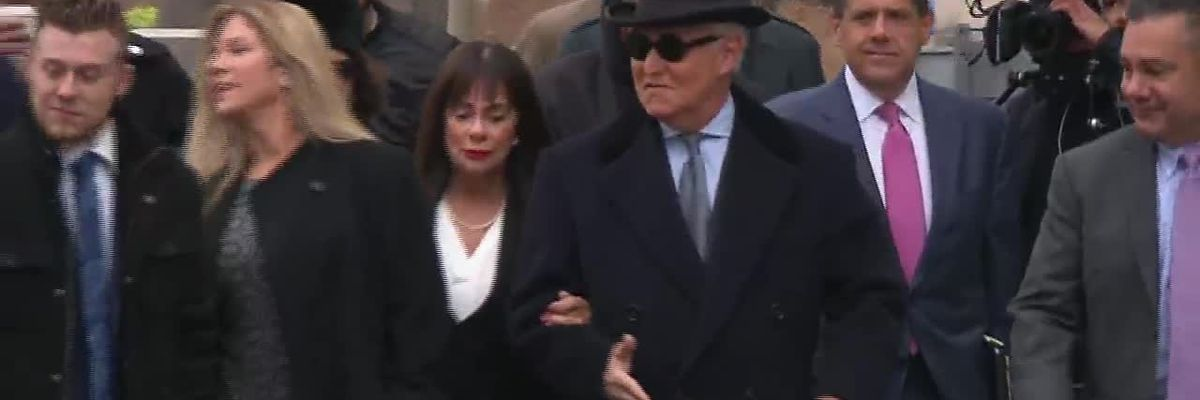 RAW: Roger Stone arrives for sentencing