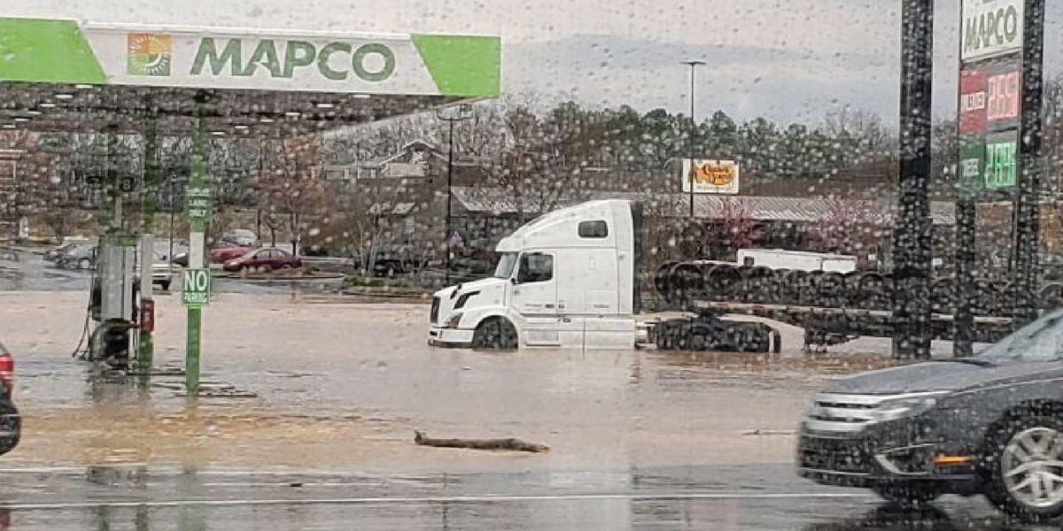 Flooding throughout DeKalb County; Some roads still impassable