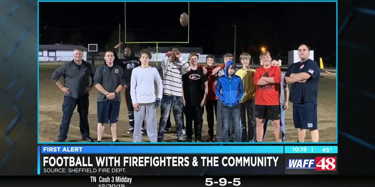 Sheffield firefighters bond with community's youth via football