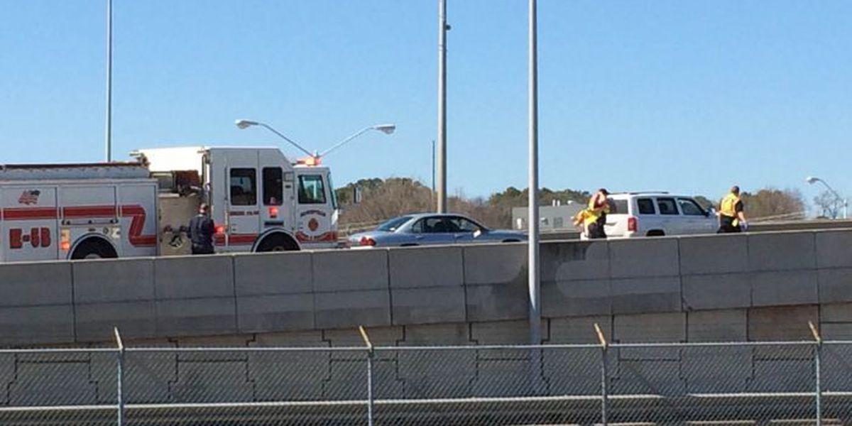 Wreck on NB Memorial Pkwy; at least 1 injury