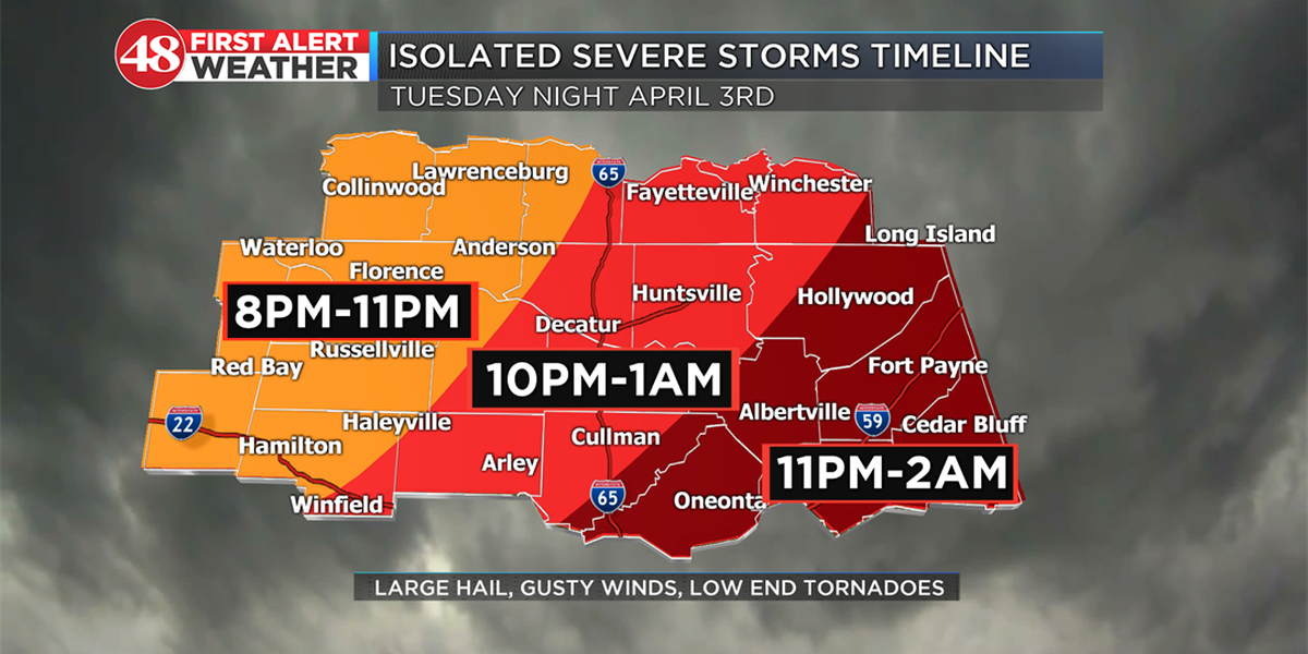 First Alert Weather Day: Severe thunderstorms expected to move in