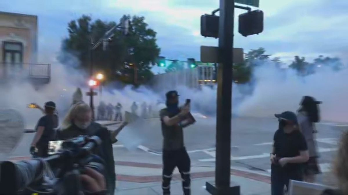 Downtown Huntsville protest ends with riot gas, arrests