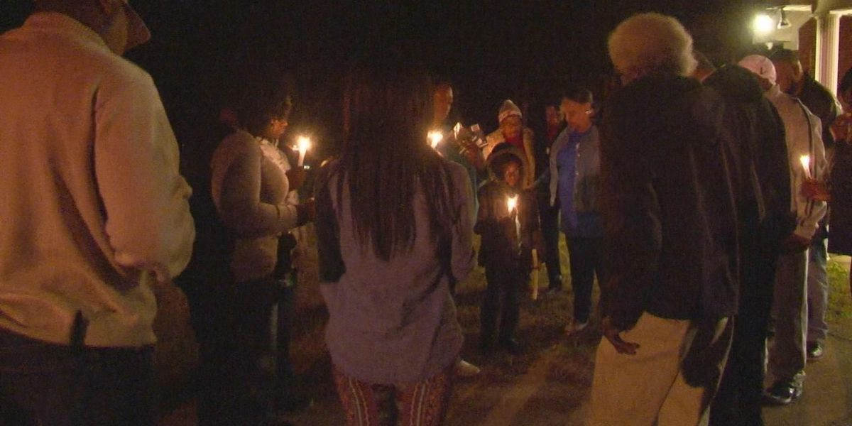 Vigil held before funeral for domestic violence victim
