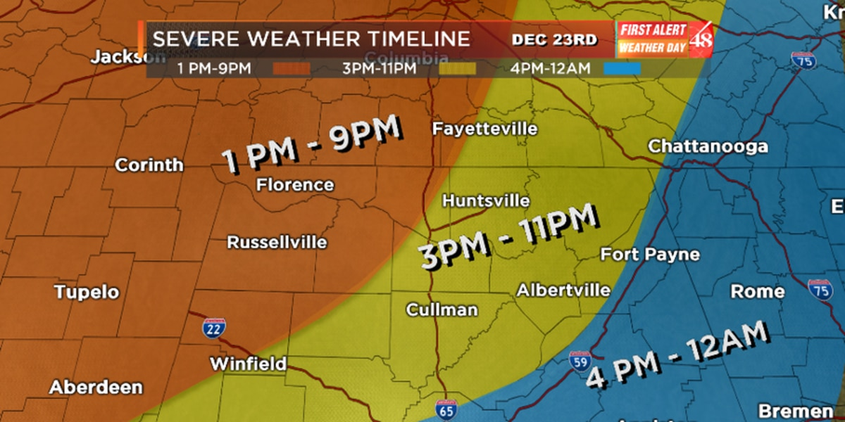 FIRST ALERT: Strong-to-severe storms possible for today--Tune into WAFF 48 News Today for your updated forecast