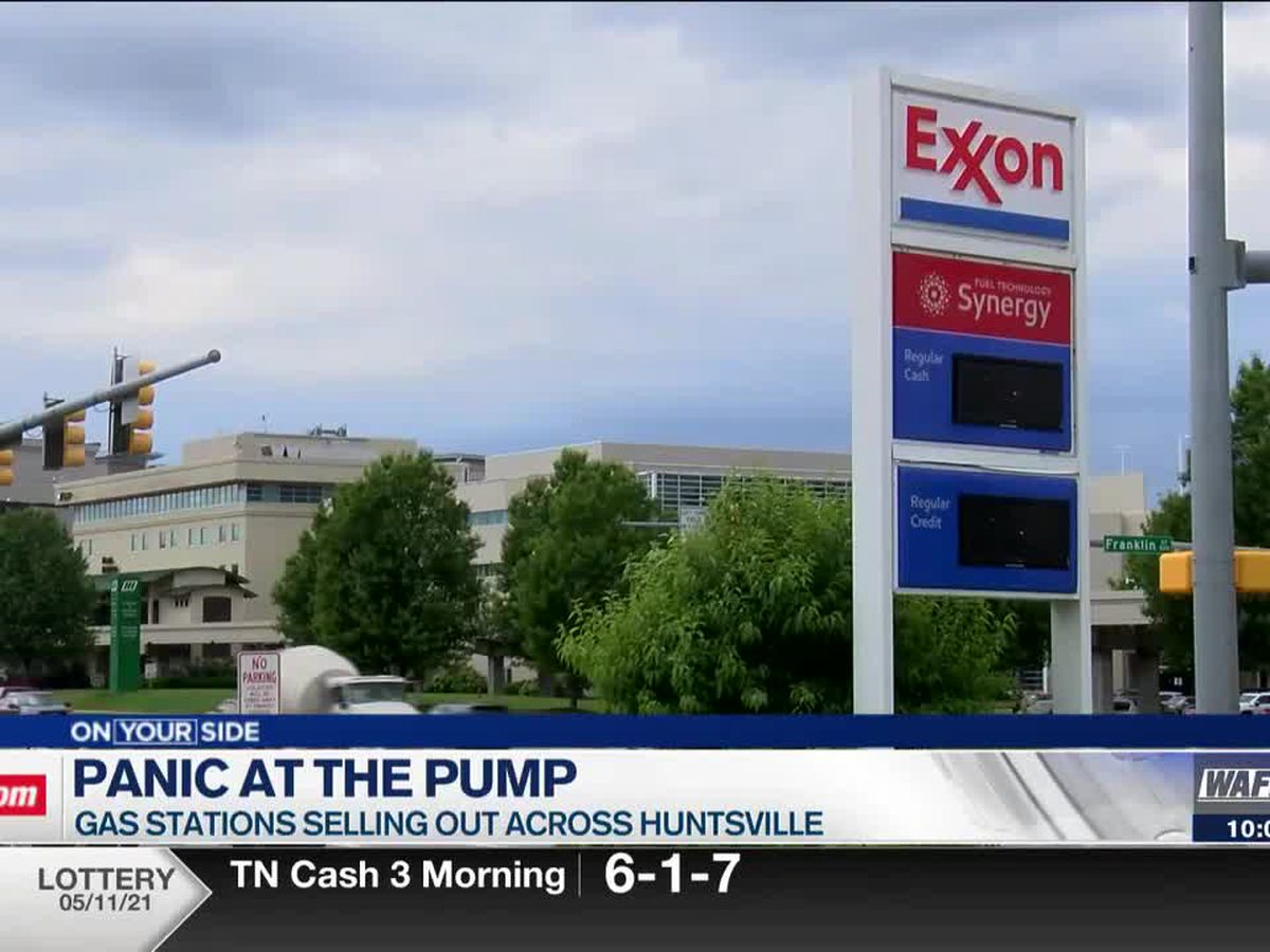 Gas stations across Huntsville selling out of gas; Gov. Ivey pleads people to stop panic buying