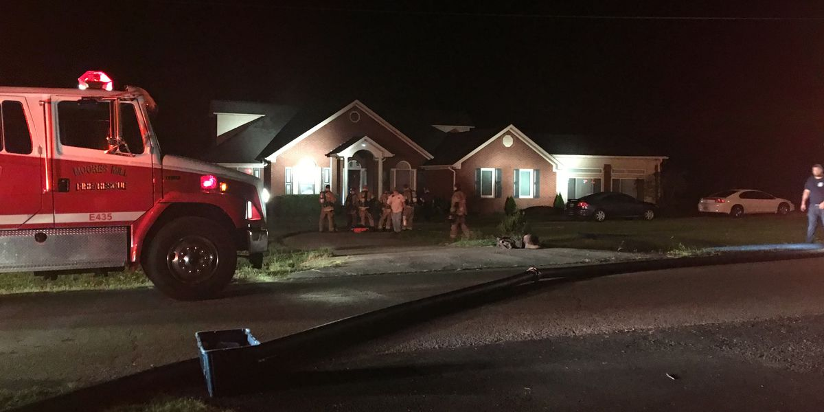 Firefighters battle house fire in Toney