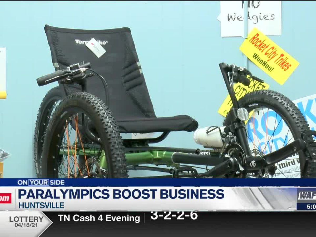 Huntsville recumbent tricycle shop sees more business following Paralympics Cycling Open