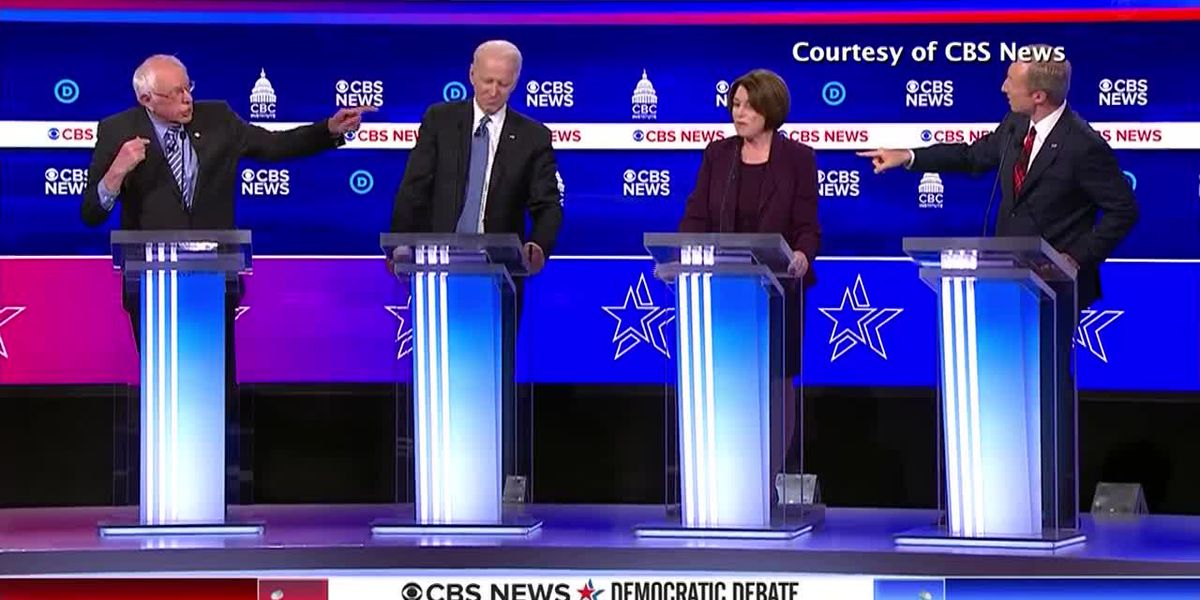 Democratic candidates clash with front runner Sanders in SC debate