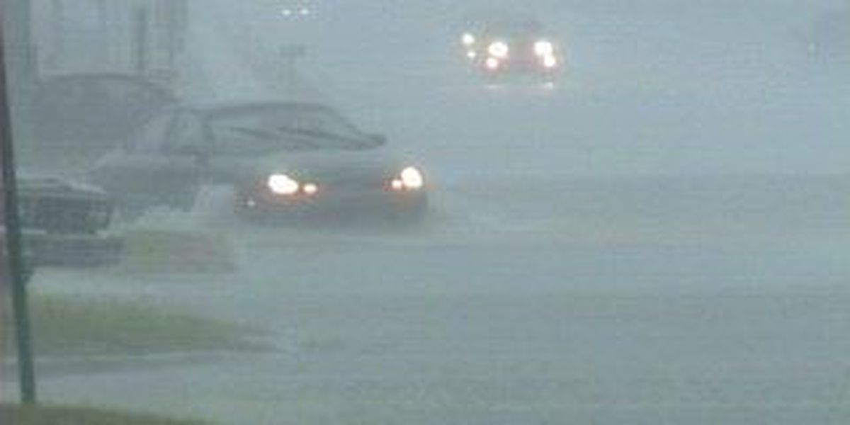 Drivers try to weather Sunday storms but some get stuck