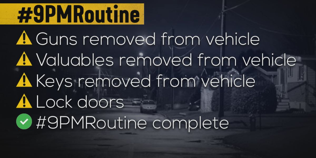 #9PMRoutine: Nightly social media initiative to curb car break-ins