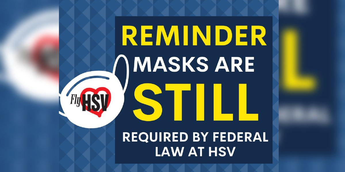 Masks still mandatory at Huntsville International Airport