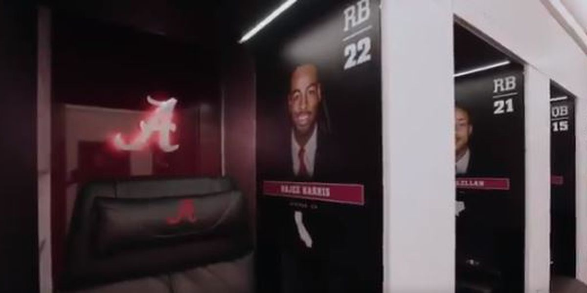 Inside the new football locker rooms at Alabama, and yes, they're nice