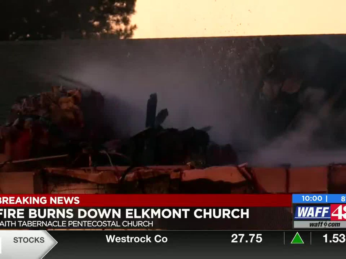 Church building destroyed by fire, members come together to pray and worship