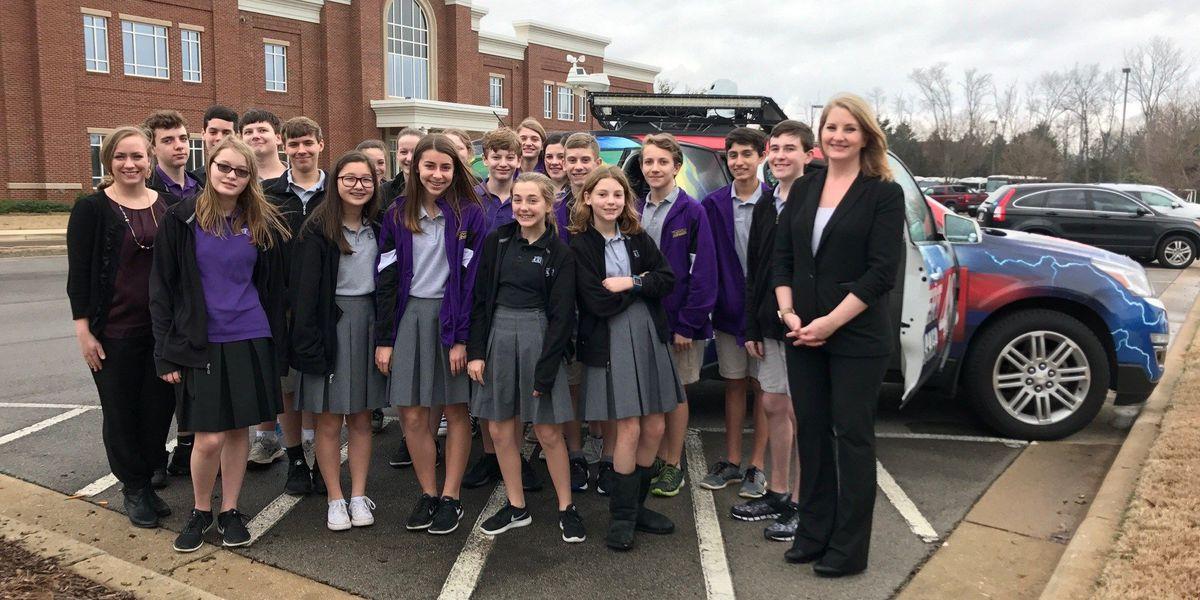 Meteorologist Lauren Jones visits Whitesburg Christian Academy