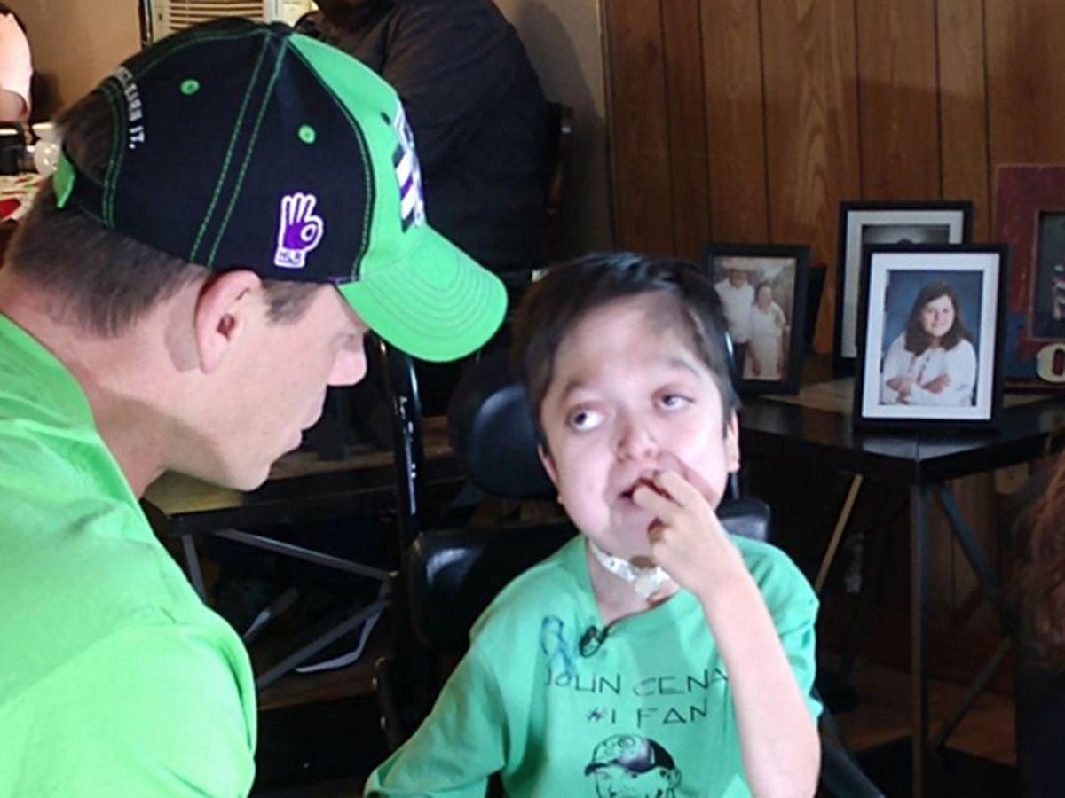 Terminally ill boy met his hero John Cena for his birthday