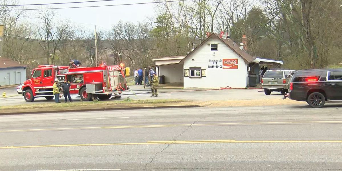 Fire damages Meridianville barbecue restaurant