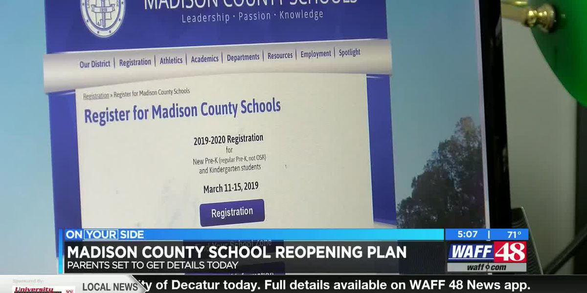 Madison County Schools release Fall reopening plan to families