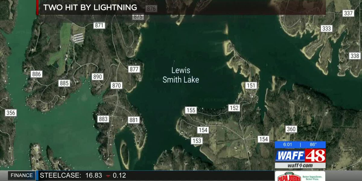 2 hit by lightning at Smith Lake in Cullman County