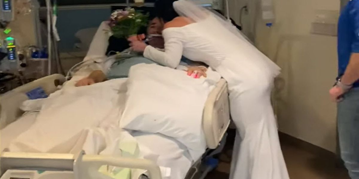Hospitalized dad gets chance to see daughter get married from inside ICU