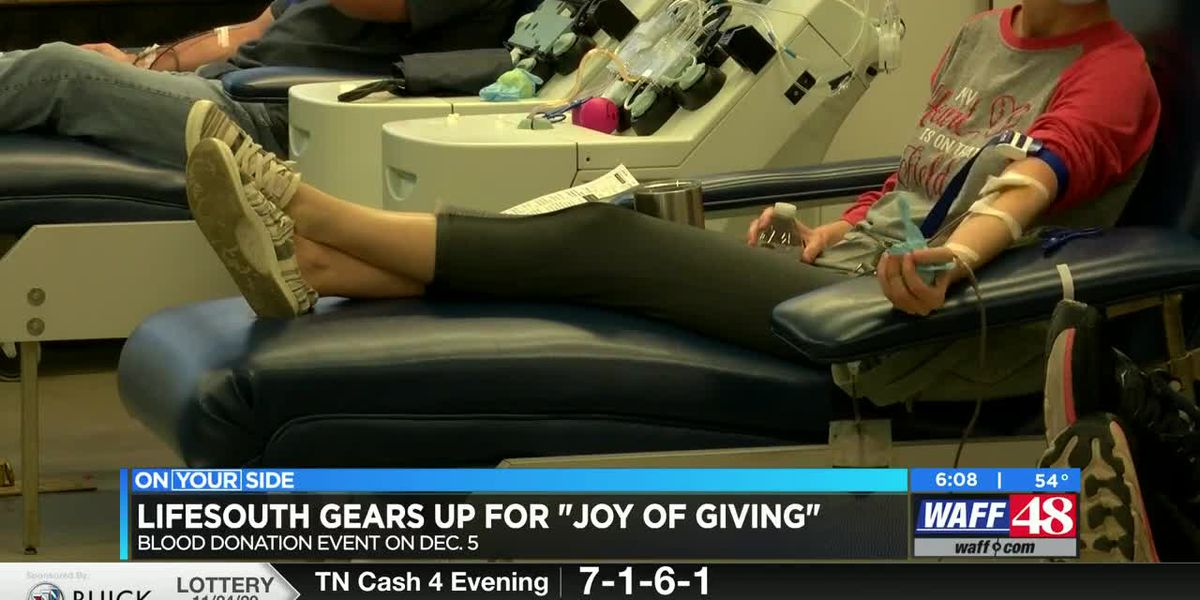 "LifeSouth gears up for ""Joy of Giving"" blood donation event"