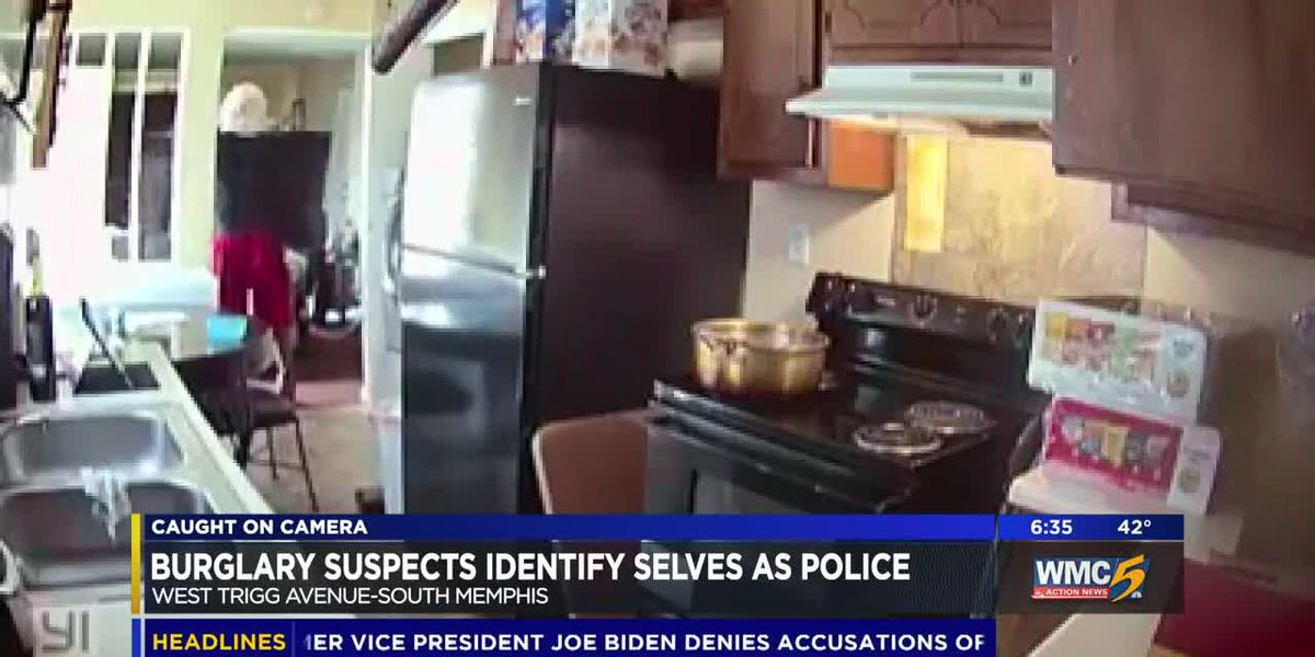 WATCH: Suspects kick in door, claim to be police during home burglary